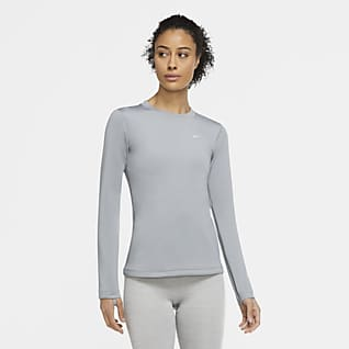 Nike Pro Therma Sudadera de cuello redondo para mujer