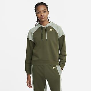 Serena Design Crew Sudadera con capucha de tenis de tejido Fleece para mujer