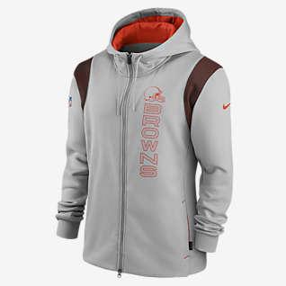 Nike Therma Sideline (NFL Cleveland Browns) Men's Full-Zip Hoodie