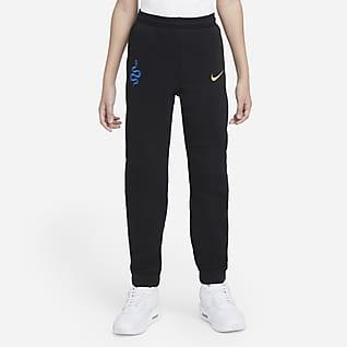 Inter de Milà Pantalons de teixit Fleece de futbol - Nen/a