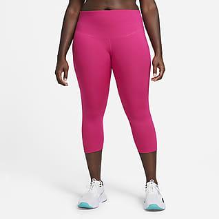 Nike One Leggings cropped de tiro medio para mujer (talla grande)