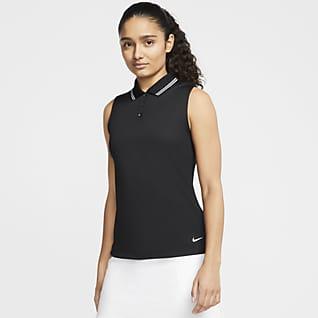 Nike Dri-FIT Victory Женская рубашка-поло без рукавов для гольфа