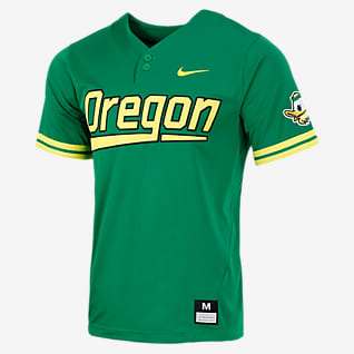 Nike College (Oregon) Camiseta de béisbol con 2 botones para hombre