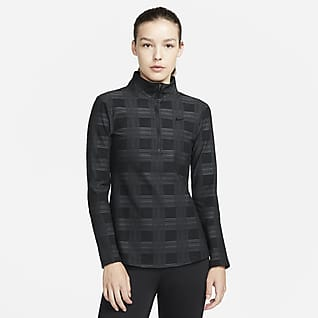 Nike Pro Therma-FIT Γυναικεία μπλούζα με φερμουάρ στο μισό μήκος