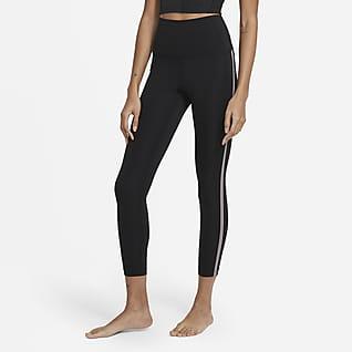 Nike Yoga Женские слегка укороченные леггинсы с высокой посадкой Novelty