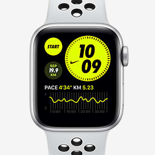 Apple Watch Nike SE (GPS + Mobilfunk) mit Nike Sportarmband 40-mm-Aluminiumgehäuse in Silber