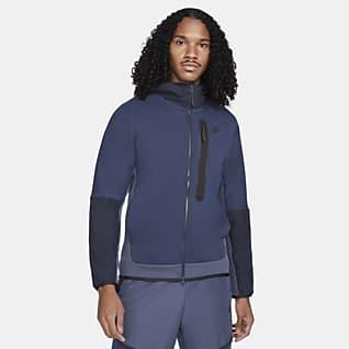 Nike Sportswear Tech Fleece Męska bluza z tkaniny z kapturem i zamkiem na całej długości