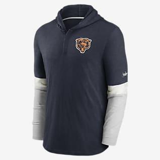 Nike Historic (NFL Bears) Men's Long-Sleeve Hooded Henley