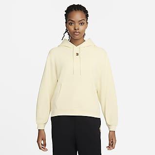 NikeCourt Hoodie de ténis em lã cardada para mulher