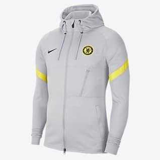Chelsea FC Strike Chamarra de entrenamiento de fútbol de tejido Knit Nike Dri-FIT para hombre