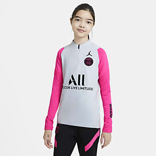 Παρί Σεν Ζερμέν Strike Μακρυμάνικη ποδοσφαιρική μπλούζα προπόνησης για μεγάλα παιδιά