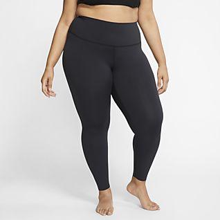Nike Yoga Luxe Женские слегка укороченные тайтсы из ткани Infinalon (большие размеры)
