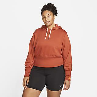 Nike Sportswear Icon Clash Sudadera con gorro de tejido Fleece sencillo para mujer talla grande