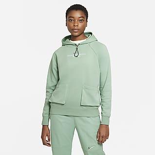 Nike Sportswear Swoosh Frottéhættetrøje til kvinder
