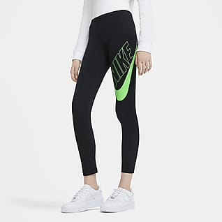 Nike Sportswear Favorites Selvlysende leggings med grafik til store børn (piger)