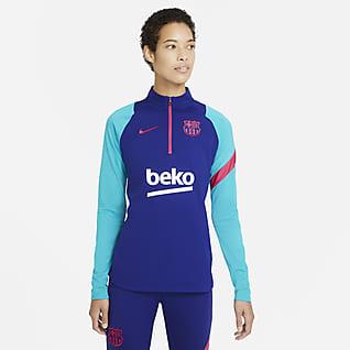 FC Barcelona Academy Pro Drill-Fußballoberteil für Damen