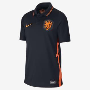Camiseta de visitante de Países Bajos 2020 Stadium Camiseta de fútbol para niños talla grande