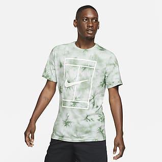 NikeCourt T-shirt de ténis com estampado tie-dye para homem