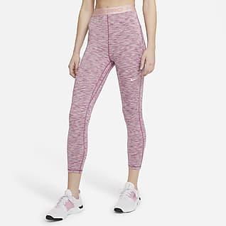 Nike Pro Ankkellange Space-Dye-leggings med høj talje til kvinder