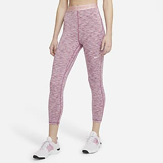 Nike Pro Women's High-Waisted Crop Space-Dye Leggings