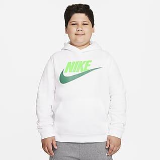 Nike Sportswear Club Fleece Big Kids' (Boys') Pullover Hoodie (Extended Size)