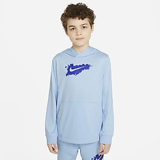Nike Sportswear Sudadera con gorro de tejido de punto para niño talla grande