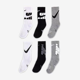 Nike Dri-FIT Calcetines largos para niños talla pequeña (3 pares)
