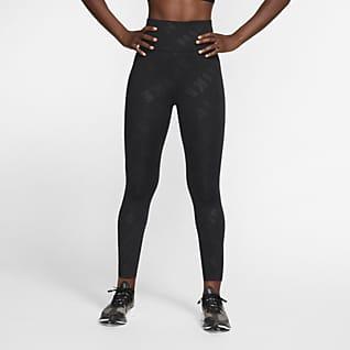 Nike Air Женские слегка укороченные леггинсы для бега с высокой посадкой