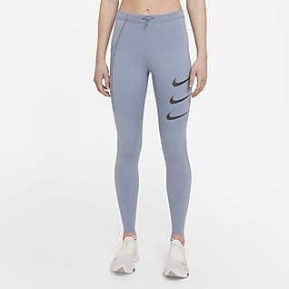 Nike Epic Luxe Run Division Löparleggings med mellanhög midja för kvinnor