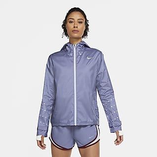 Nike Essential Flash Chamarra de running con capucha para mujer