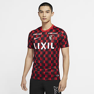 Kashima アントラーズ アカデミー メンズ ショートスリーブ グラフィック サッカートップ