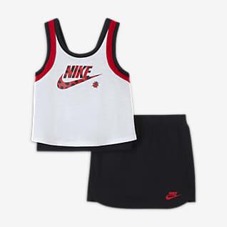 """Nike """"Little Bugs"""" Conjunto de camiseta de tirantes y falda para bebé (12-24M)"""