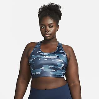 Nike Dri-FIT Swoosh Bra deportivo sin acolchado de sujeción alta talla grande para mujer