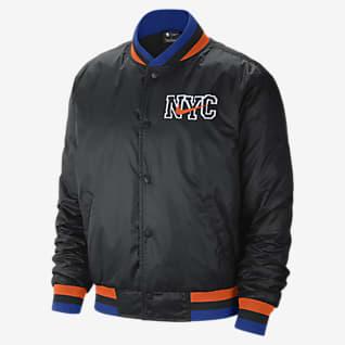 New York Knicks City Edition Courtside Nike NBA-Jacke für Herren