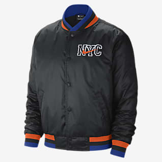 New York Knicks City Edition Courtside Veste Nike NBA pour Homme