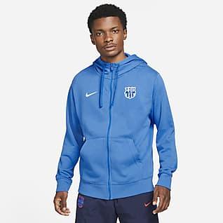 F.C. Barcelona Men's French Terry Full-Zip Hoodie
