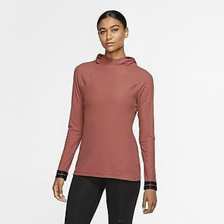 Nike Pro Icon Clash Haut à manches longues et capuche pour Femme