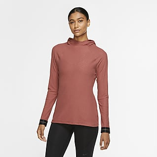 Nike Pro Icon Clash Prenda para la parte superior con capucha de manga larga para mujer