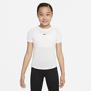 Nike Dri-FIT One Kortärmad topp för tjejer