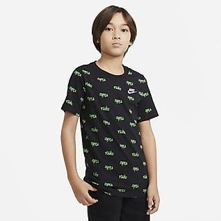 Nike Sportswear Script Older Kids' (Boys') Printed T-Shirt