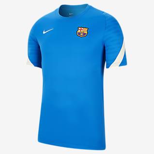 FC Barcelona Strike Kurzarm-Fußballoberteil für Herren