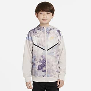 Nike Sportswear Windrunner Chamarra tie-dye para niño talla grande
