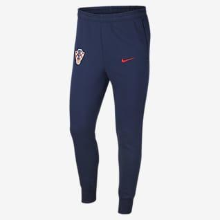 Chorwacja Męskie spodnie piłkarskie z dzianiny