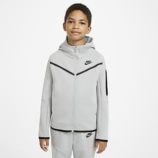 Nike Sportswear Tech Fleece Sudadera con capucha de cierre completo para niño talla grande