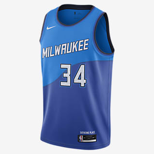 Milwaukee Bucks City Edition Nike NBA Swingman mez