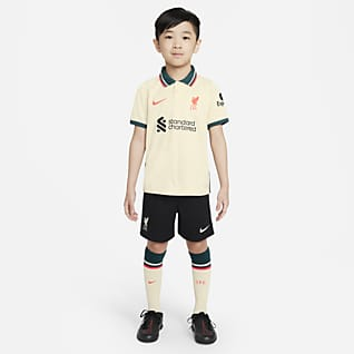Liverpool FC 2021/22 Away ชุดอุปกรณ์เชียร์ฟุตบอลเด็กเล็ก