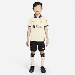 Liverpool FC 2021/22 de visitante Kit de fútbol para niños talla pequeña