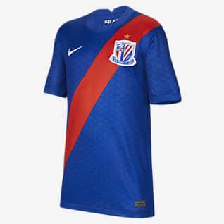 2021 赛季上海绿地申花主场球迷版 大童足球球衣