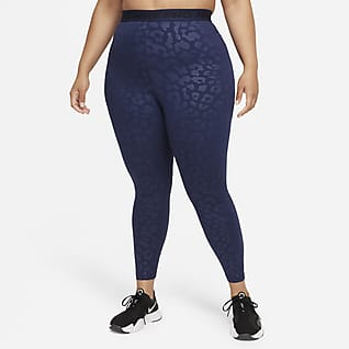Nike Pro Dri-FIT Women's High-Waisted 7/8 Printed Leggings (Plus Size)