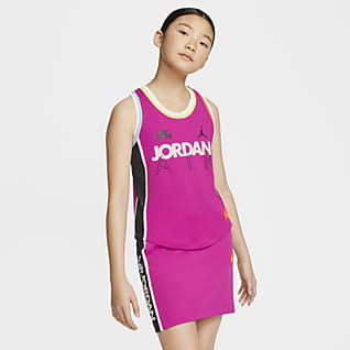 Air Jordan Camiseta de tirantes para niña talla grande